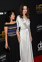 Angelina Jolie &amp; Loung Ung at the 21st Annual Hollywood Film Awards at The Beverly Hilton Hotel, Beverly Hills. USA 05 Nov. 2017<br /> Picture: Paul Smith/Featureflash/SilverHub 0208 004 5359 sales@silverhubmedia.com