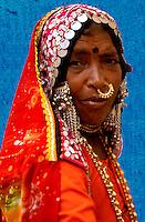 Lambani Gypsy Tribals, forest dwellers, now settled in 30-home hamlets in rural Karnataka, India. Related to the Rabaris gypsies of Kutch, Gujarat.