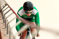 Picture by Alex Whitehead/SWpix.com - 09/12/2017 - Cycling - UCI Track Cycling World Cup Santiago - Velódromo de Peñalolén, Santiago, Chile - Ireland's Roby Stewart competes in the Women's Sprint qualifying.
