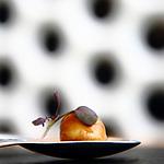 Bombon de foie, reduccion de PX y manzana, aperitivo. One Ocean Club