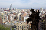 Barcelona-Spain - 15 April 2006---View from Sagrada Família (Familia) over the city to Torre Agbar (Agbar Tower)---architecture---Photo: © HorstWagner.eu