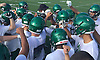 Farmingdale varsity football players gather during practice at Farmingdale High School on Tuesday, Aug. 16, 2016.