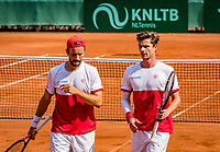 The Hague, Netherlands, 09 June, 2018, Tennis, Play-Offs Competition, Men's doubles: Antal van der Duim (R) and Gero Kretschmer<br /> Photo: Henk Koster/tennisimages.com