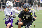 Orange, CA 05/16/15 - Ben Wharton (Colorado #5) and Ryan Fergusen (Grand Canyon #17) in action during the 2015 MCLA Division I Championship game between Colorado and Grand Canyon, at Chapman University in Orange, California.