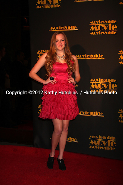 LOS ANGELES - FEB 10:  Chelsey Bryson arrives at the 2012 Movieguide Awards at Universal Hilton Hotel on February 10, 2012 in Universal City, CA