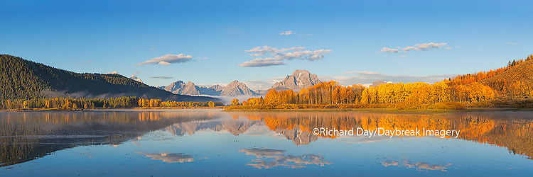 67545-08818 Sunrise at Oxbow Bend in fall, Grand Teton National Park, WY