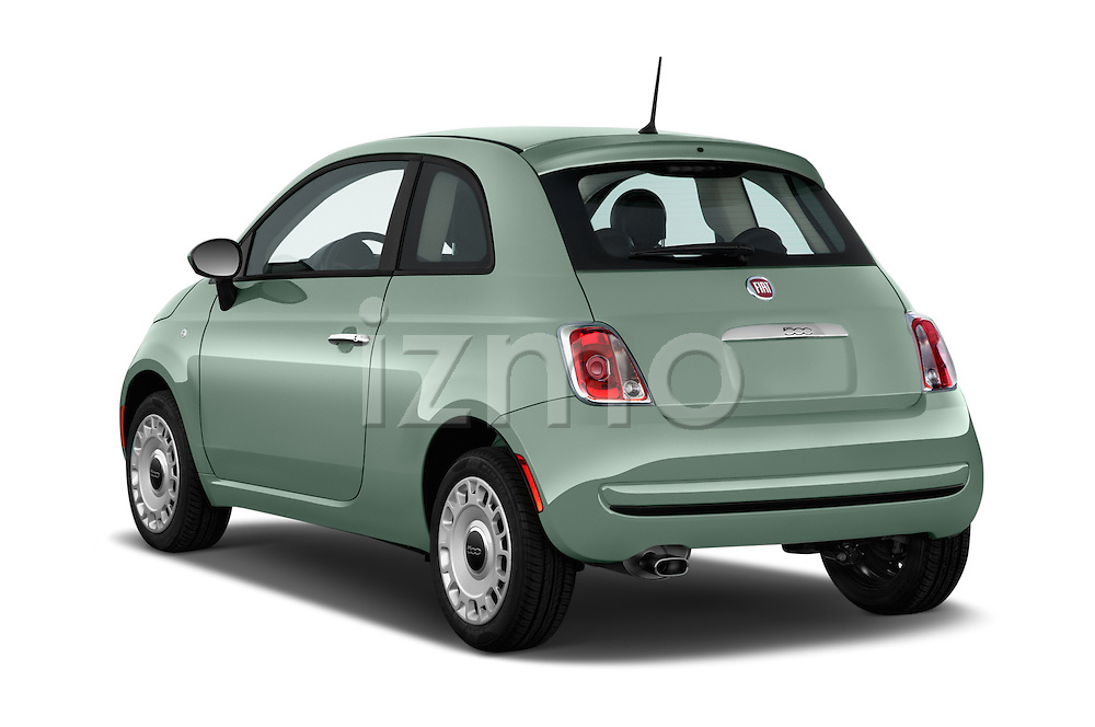 Car pictures of rear three quarter view of 2017 Fiat 500 Pop 3 Door Hatchback Angular Rear