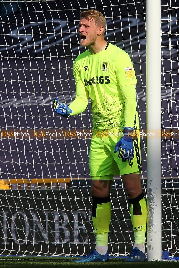 Stoke City goalkeeper, Adam Davies during Millwall vs Stoke City, Sky Bet EFL Championship Football at The Den on 12th September 2020