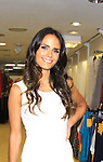 Dallas, As The World Turns' Jordana Brewster models Oscar de la Renta at Celebrity Fashion Stylist Felix Mercado's Fashion Nght Out Runway Show and After Party was held on September 6, 2012 at Loehmann's, New York City, New York with celebrities Jordana Brewster (As The World Turns, Dallas and Fast and the Furious), Lisa Vanderpump (The Real Housewives of Beverly Hills with husband Ken Todd and doggie Giggy (Gigolo) and Iris Apfel (fashion muse).  (Photo by Sue Coflin/Max Photos)