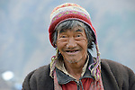 A man in the village of Gatlang, in the Rasuwa District of Nepal near the country's border with Tibet.