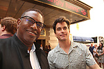 "All My Children's William Christian ""Derek Frye"" saw Broadway's Boys in the Band and poses Guiding Light's Matt Bomer who in the show.  (Photo by Sue Coflin/Max Photo)"