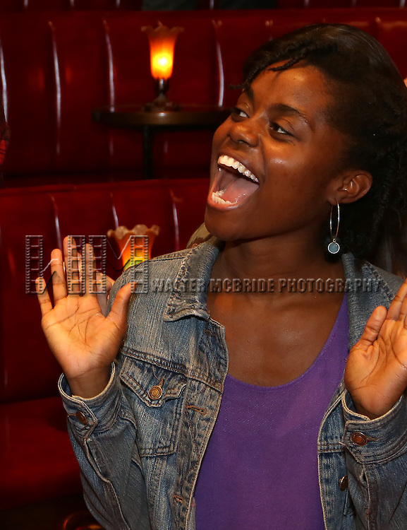 Denee Benton during the Broadway Opening Night Actors' Equity Gypsy Robe Ceremony honoring Katrina Yaukey  for  'Natasha, Pierre & The Great Comet Of 1812' at The Imperial Theatre on November 14, 2016 in New York City.