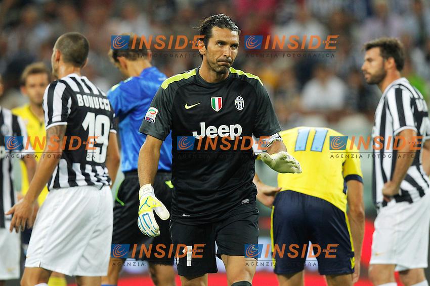 Gianluigi Buffon Juventus,<br /> Torino 31-08-2013<br /> Juventus Stadium <br /> Football Calcio 2013/2014 Serie A <br /> Juventus - Lazio <br /> Foto Marco Bertorello Insidefoto