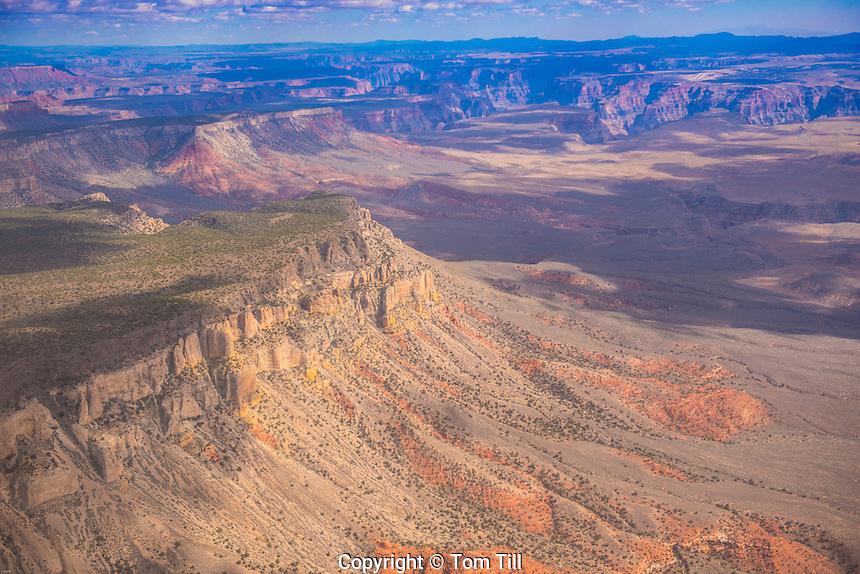 Aerial view of Grand Canyon Parashant National Monument, Arizona, Near Colorado River