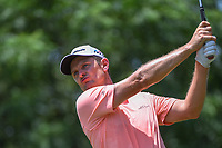 Justin Rose (GBR) watches his tee shot on 9 during round 3 of the Fort Worth Invitational, The Colonial, at Fort Worth, Texas, USA. 5/26/2018.<br /> Picture: Golffile | Ken Murray<br /> <br /> All photo usage must carry mandatory copyright credit (&copy; Golffile | Ken Murray)