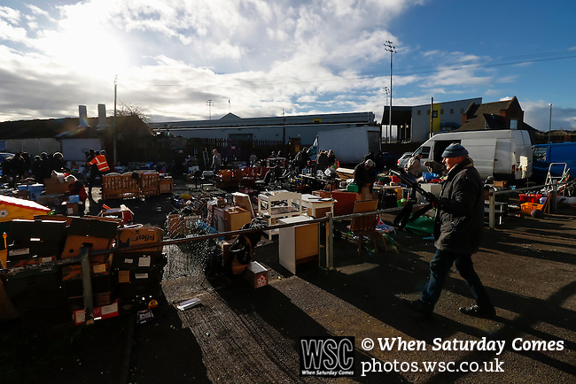 Notts County 0 Mansfield Town 0, 14/01/2017. Meadow Lane, League Two. A Saturday morning market on the land surrounding Meadow Lane. Photo by Paul Thompson.