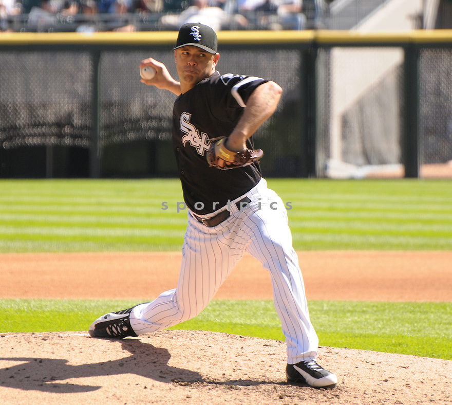 JAVIER VAZQUEZ,  of the Chicago White Sox  in action  during the White Sox game against the Toronto Blue Jays.  The Blue Jays beat the White Sox 3-1 in Chicago, Illinois on September 9, 2008...David Durochik