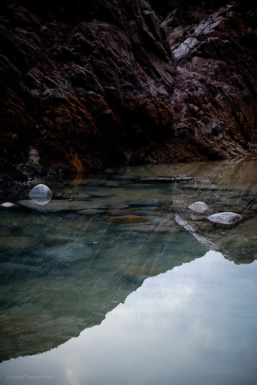 Rock pool reflections