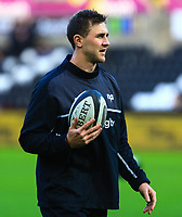 Ospreys' Ashley Beck during the pre match warm up.<br /> <br /> Photographer Dan Minto/CameraSport<br /> <br /> Guinness Pro14 Round 13 - Ospreys v Cardiff Blues - Saturday 6th January 2018 - Liberty Stadium - Swansea<br /> <br /> World Copyright &copy; 2018 CameraSport. All rights reserved. 43 Linden Ave. Countesthorpe. Leicester. England. LE8 5PG - Tel: +44 (0) 116 277 4147 - admin@camerasport.com - www.camerasport.com