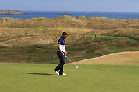 Matthew McAlpin (Royal Portrush) on the 16th green during Round 2 - Strokeplay of the North of Ireland Championship at Royal Portrush Golf Club, Portrush, Co. Antrim on Tuesday 10th July 2018.<br /> Picture:  Thos Caffrey / Golffile