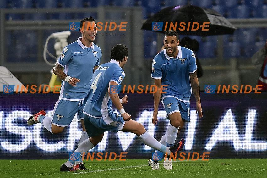 Esultanza Gol Felipe Anderson Lazio Goal celebration <br /> Roma 26-10-2016  Stadio Olimpico <br /> Football Calcio Serie A 2016/2017 Lazio - Cagliari <br /> Foto Andrea Staccioli / Insidefoto