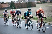 Justin Timmermans (NED/Roompot Charles) leading the Early Break away group<br /> <br /> GP Marcel Kint 2019 (BEL)<br /> One Day Race: Kortrijk – Zwevegem 188.10km. (UCI 1.1)<br /> Bingoal Cycling Cup 2019