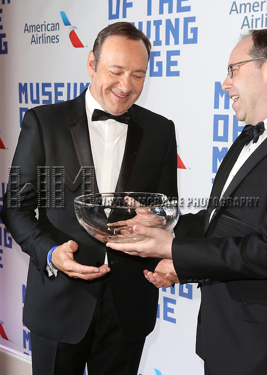 Kevin Spacey and Carl Goodman attends The Museum of Moving Image Award honoring Kevin Spacey at 583 Park on April 9, 2014 in New York City.