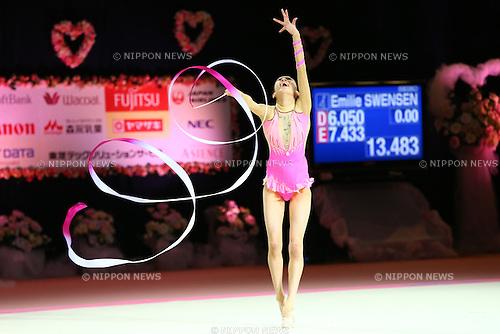 Akari Douzono,<br /> OCTOBER 2, 2015 - Rhythmic Gymnastics : <br /> AEON CUP 2015 Worldwide R.G. Club Championships <br /> at Tokyo Metropolitan Gymnasium, Tokyo, Japan. <br /> (Photo by Shingo Ito/AFLO SPORT)