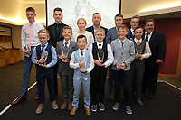 Pictured: All the award winners with club chairman Huw Jenkins (TOP CENTRE) Saturday 27 May 2017<br />