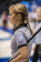 Glasgow. SCOTLAND. Russia's, Galina ARSENKINA &quot;Round Robin&quot; Games. Le Gruy&egrave;re European Curling Championships. 2016 Venue, Braehead  Scotland<br /> Monday  21/11/2016<br /> <br /> [Mandatory Credit; Peter Spurrier/Intersport-images]