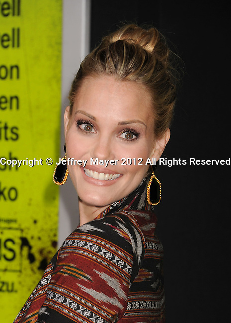 WESTWOOD, CA - OCTOBER 01: Leslie Bibb arrives at the Los Angeles premiere of 'Seven Psychopaths' at Mann Bruin Theatre on October 1, 2012 in Westwood, California.