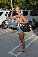 www.acepixs.com<br /> <br /> February 17 2017, Miami<br /> <br /> Model Selena Weber wears Daisy Dukes and stripes as she leaves the beach on February 17, 2017 in Miami Beach, Florida<br /> <br /> By Line: Solar/ACE Pictures<br /> <br /> ACE Pictures Inc<br /> Tel: 6467670430<br /> Email: info@acepixs.com<br /> www.acepixs.com