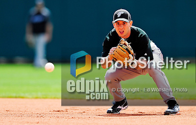 13 March 2010: Toronto Blue Jays' infielder Jonathan Diaz warms up prior to a Spring Training game against the Atlanta Braves at Champion Stadium in the ESPN Wide World of Sports Complex in Orlando, Florida. The Blue Jays shut out the Braves 3-0 in Grapefruit League action. Mandatory Credit: Ed Wolfstein Photo