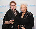 Elizabeth Ashley and Joy Abbott attend the SDC Foundation presents The Mr. Abbott Award honoring Kenny Leon at ESPACE on March 27, 2017 in New York City.