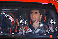 Mar 30, 2007; Martinsville, VA, USA; Nascar Nextel Cup Series driver Elliott Sadler (19) during practice for the Goody's Cool Orange 500 at Martinsville Speedway. Martinsville marks the second race for the new car of tomorrow. Mandatory Credit: Mark J. Rebilas