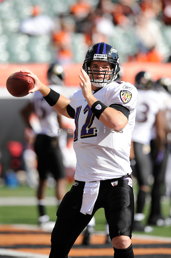 JOHN BECK, of the Baltimore Ravens, in action during the Ravens game against the Cincinnati Bengals on November 8, 2009 in Cincinnati, OH. Bengals won 17-7.