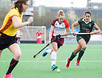 ALMERE - Hockey - Overgangsklasse competitie dames ALMERE- ROTTERDAM (0-0) .  Quirine Angel  (Almere)  met Jimena Cedres .  COPYRIGHT KOEN SUYK