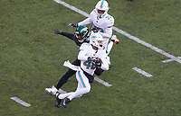defensive back Marcus Sherels (48) of the Miami Dolphins wird gestoppt beim Punt Return - 08.12.2019: New York Jets vs. Miami Dolphins, MetLife Stadium New York