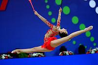 August 31, 2017 - Pesaro, Italy - ALINA HARNASKO of Belarus performs at 2017 World Championships.