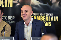 Mickey Helliet during a Press Conference at the Courthouse Hotel on 13th September 2018