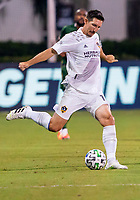 13th July 2020, Orlando, Florida, USA;  Los Angeles Galaxy midfielder Sacha Kljestan (16) passes the ball during the MLS Is Back Tournament between the LA Galaxy versus Portland Timbers on July 13, 2020 at the ESPN Wide World of Sports, Orlando FL.