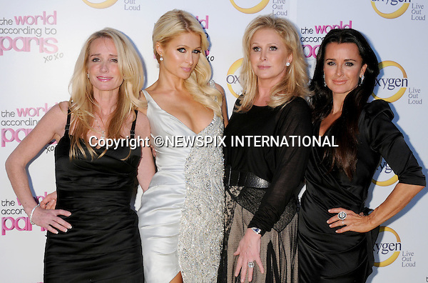 "Paris Hilton, Kathy Hilton, Kim Richards and Kyle Richards.arrives at ""The World According to Paris"" Premiere Party at the Tropicana Bar at the Hollywood Roosevelt Hotel on May 17, 2011 in Hollywood, California..Mandatory Photo Credit: ©Crosby/Newspix International..**ALL FEES PAYABLE TO: ""NEWSPIX INTERNATIONAL""**..PHOTO CREDIT MANDATORY!!: NEWSPIX INTERNATIONAL(Failure to credit will incur a surcharge of 100% of reproduction fees)..IMMEDIATE CONFIRMATION OF USAGE REQUIRED:.Newspix International, 31 Chinnery Hill, Bishop's Stortford, ENGLAND CM23 3PS.Tel:+441279 324672  ; Fax: +441279656877.Mobile:  0777568 1153.e-mail: info@newspixinternational.co.uk"