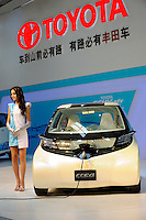 Future Toyota electric vehicle II FT-EVII concept car at Beijing Auto Show 2010. The car show has attracted all the world's major auto markers. China's vehicle sales have breached the 10-million barrier for the first time ever, with 10.9 million automobiles sold last year. .24 Apr 2010