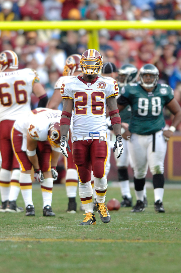 CLINTON PORTIS, of the Washington Redskins in action during the Redskin game against the Philadelphia Eagles on November 11, 2007 in Landover, Maryland...Eagles  win 33-25..SportPics