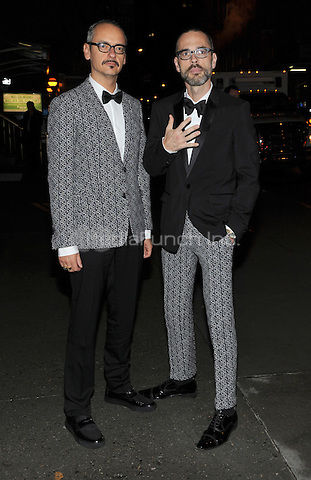 New York, NY- October 23: Viktor Horsting and Rolf Snoeren  spotted on Wall Street attending the 31st annual FGI Night Of Stars event at Cipriani Wall Street on October 23, 2014 in New York City. Credit: John Palmer/MediaPunch