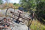 Old Hay Rake Resting on Bedrock on the Island of Kökar