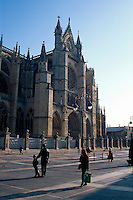 Kathedrale, León, Kastilien-León, Spanien..