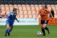 Katie Wilkinson of London Bees and Nicole Kemp of Sheffield FC Ladies during London Bees vs Sheffield FC Ladies, FA Women's Super League FA WSL2 Football at the Hive Stadium on 12th May 2018