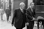Harold Macmillan, and ????? 1970s Whitehall London Uk.<br /> <br /> Maurice Harold Macmillan, 1st Earl of Stockton, British Conservative politician and  Prime Minister  from 10 January 1957 to October 1963.