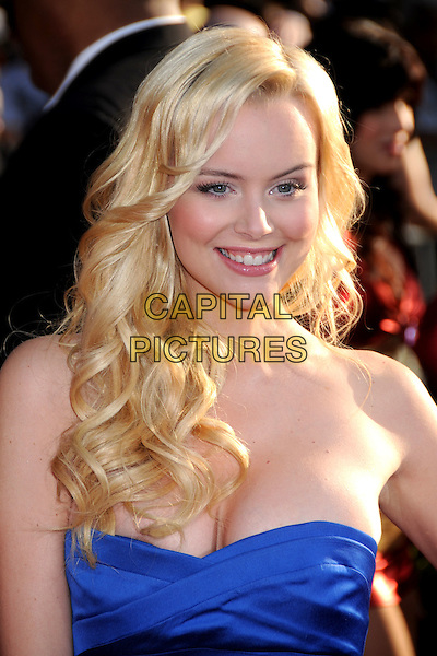 "HELENA MATTSSON.""Iron Man 2"" World Premiere held at the El Capitan Theatre, Hollywood, California, USA, 26th April 2010.. arrivals portrait headshot strapless blue smiling .CAP/ADM/BP.©Byron Purvis/AdMedia/Capital Pictures."
